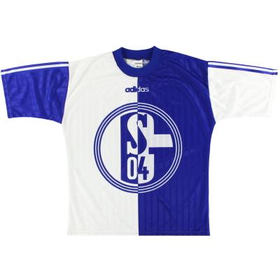1996-97 Schalke adidas Training Shirt S