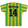 1996-97 SV Casino Salzburg adidas Away Shirt Hutter #14 M