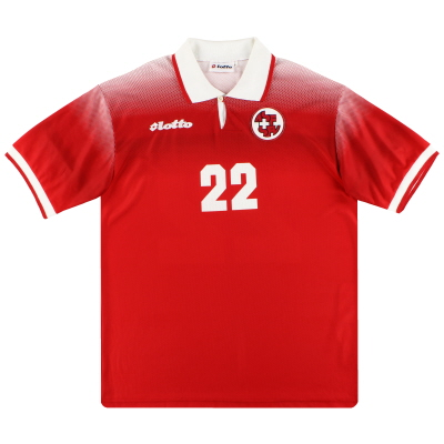 1996-97 Switzerland Lotto Match Issue Home Shirt #22 XL
