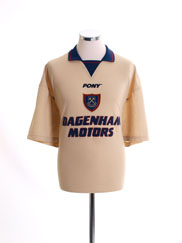 1996-97 West Ham Third Shirt L