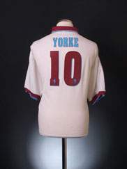 1996-98 Aston Villa Away Shirt Yorke #10 XL