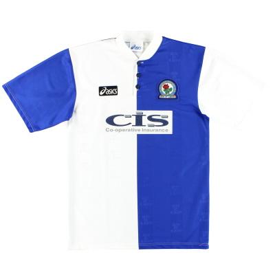 1996-98 Blackburn Asics Home Shirt L