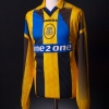 1996-98 Everton Match Worn Away Shirt Ferguson #9 L/S XXL