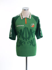 1996-98 Ireland Match Issue Home Shirt #7 L