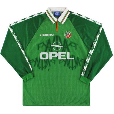 1996-98 Ireland Umbro Match Issue Home Shirt L/S #6 XL