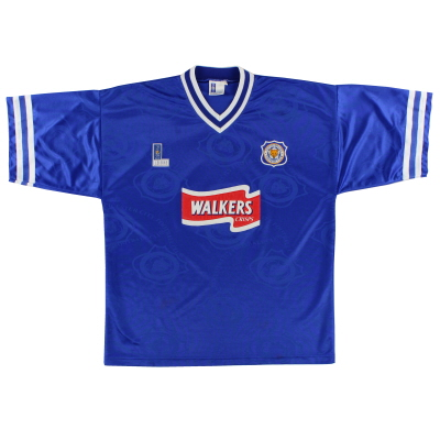 1996-98 Leicester Home Shirt *As New* XL
