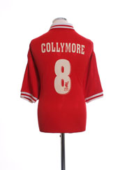 1996-98 Liverpool Home Shirt Collymore #8 XL
