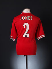 1996-98 Liverpool Home Shirt Jones #2 L