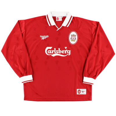1996-98 Liverpool Home Shirt L/S *Mint* XL