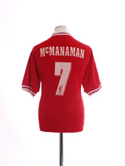 1996-98 Liverpool Home Shirt McManaman #7 L