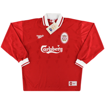 1996-98 Liverpool Reebok Home Shirt L/S *w/tags* XL
