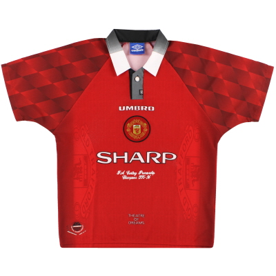1996-98 Manchester United Umbro 'Premiership Champions' Home Shirt M