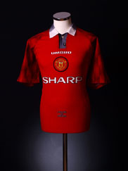 1996-98 Manchester United Home Shirt L