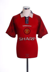 1996-98 Manchester United Home Shirt L.Boys