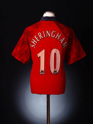 1996-98 Manchester United Home Shirt Sheringham #10 Y
