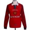 1996-98 Manchester United Home Shirt Beckham #10 L/S L