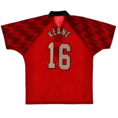 1996-98 Manchester United Home Shirt Keane #16 L