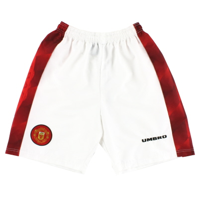 1996-98 Manchester United Home Shorts L