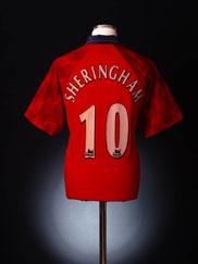 1996-98 Manchester United Home Shirt Sheringham #10 L