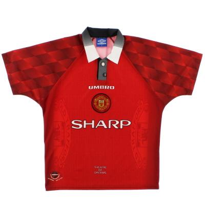 1996-98 Manchester United Umbro Home Shirt XL