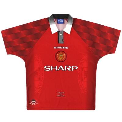 1996-98 Manchester United Umbro Home Shirt M