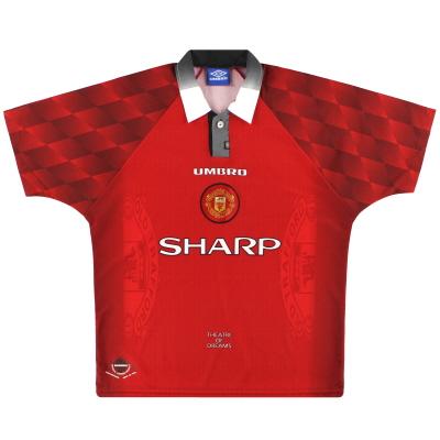 1996-98 Manchester United Umbro Home Shirt M