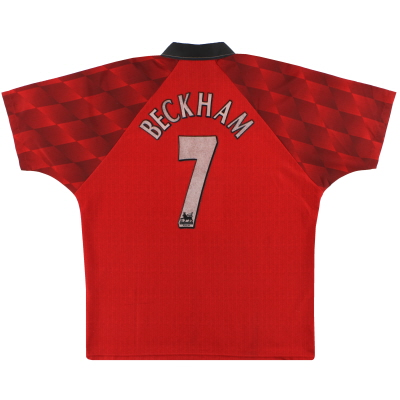 1996-98 Manchester United Umbro Home Shirt Beckham #7 L