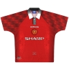 1996-98 Manchester United Umbro Home Shirt Beckham #10 L