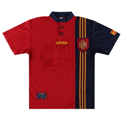 1996-98 Spain adidas Home Shirt S