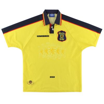 1996-99 Scotland Umbro Away Shirt L