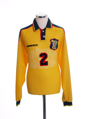 1996-99 Scotland Match Issue Away Shirt #2 L/S XL