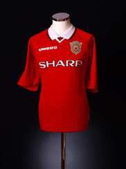 1997-00 Manchester United Champions League Shirt XL