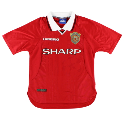 1997-00 Manchester United Champions League Home Shirt Y