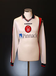 1997-00 Nottingham Forest Away Shirt L/S XL