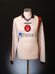 1997-00 Nottingham Forest Away Shirt L/S XL
