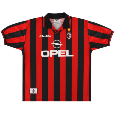 1997-98 AC Milan Lotto Home Shirt XL