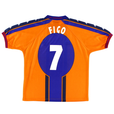 1997-98 Barcelona Away Shirt Figo #7 M