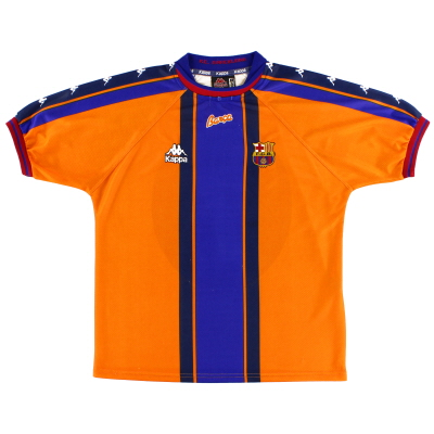 1997-98 Barcelona Kappa Away Shirt L