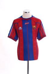 1997-98 Barcelona Home Shirt L