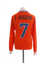 1997-98 Holland Home Shirt v.Hooijdonk #7 L/S XL
