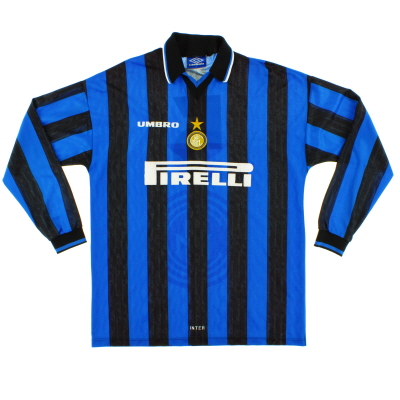 1997-98 Inter Milan Player Issue Home Shirt #5 L/S XL