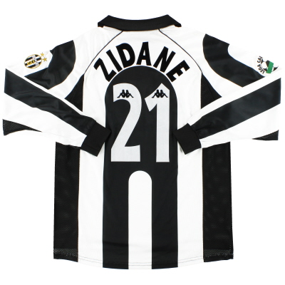 1997-98 Juventus Kappa Centenary Home Shirt Zidane #21 L/S XL