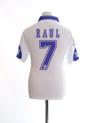 1997-98 Real Madrid Home Shirt Raul #7 *BNWT* XS