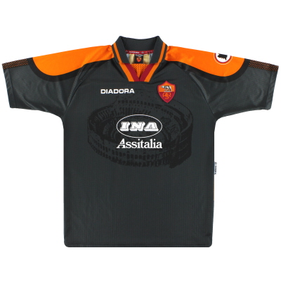 1997-98 Roma Diadora Third Shirt L