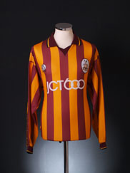 1997-99 Bradford City Home Shirt L/S L