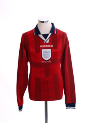 1997-99 England Away Shirt L/S M