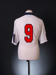 1997-99 England Match Issue Home Shirt #9 XL