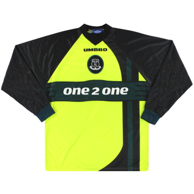 1997-99 Everton Umbro Goalkeeper Shirt L