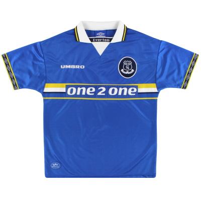 1997-99 Everton Umbro Home Shirt L