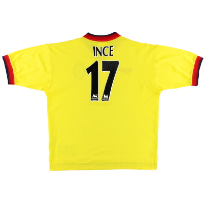 1997-99 Liverpool Away Shirt Ince #17 L